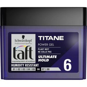 TAFT HAIR GEL 250ml Titane N6