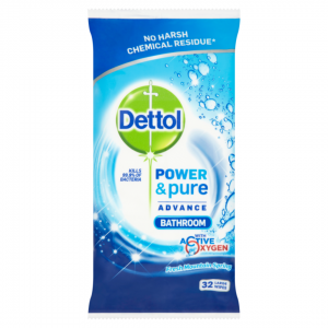 DETTOL  CLEANING WIPES 32τεμ Πανάκια μπάνιου
