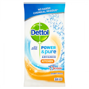 DETTOL  CLEANING WIPES 32τεμ Πανάκια κουζίνας