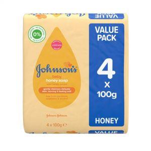 JOHNSONS BABY SOAP HONEY 4x100g