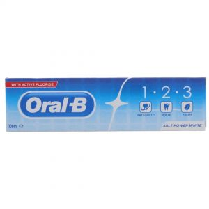 ORAL B T/PASTE 123 SALT POWER WHITE