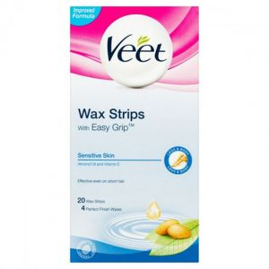 VEET WAX STRIPS  20T+2 SENSITIVE