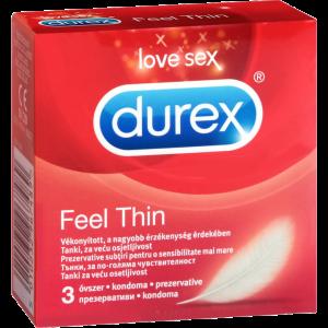 DUREX CONDOM 3PCS FEEL THIN