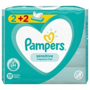 PAMPERS BABY WIPES SENSITIVE 52 TEM (2+2)