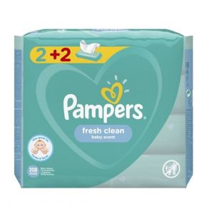 PAMPERS BABY WIPES FRESH 52 TEM (2+2)